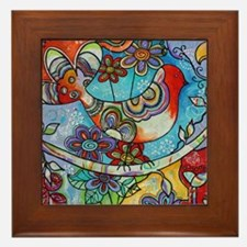 Indian Summer Bird Framed Tile
