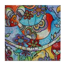Indian Summer Bird Tile Coaster