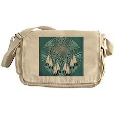 American Indian Azure Dream Catcher Messenger Bag