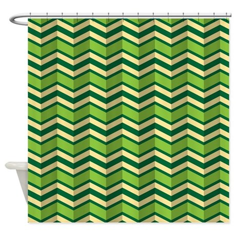 Green chevron pattern shower curtain by smoojeestuff - Green curtain patterns ...