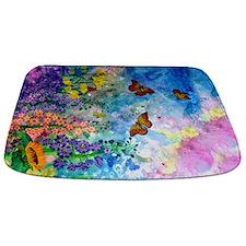 Butterfly Garden Bathmat
