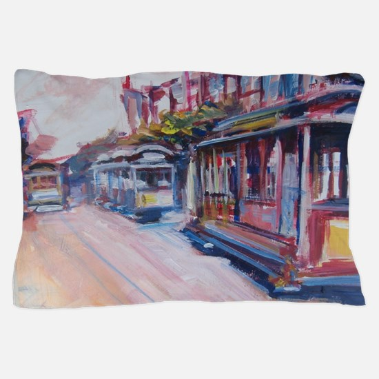 San Francisco Cable Cars Pillow Case