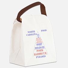 North Carolina Food Pyramid Canvas Lunch Bag