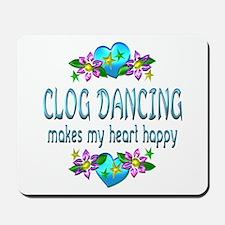 Clog Dancing Heart Happy Mousepad
