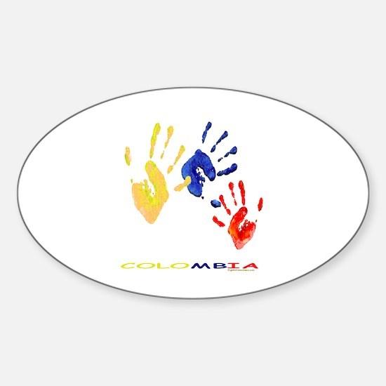 Colombian hands Sticker (Oval)