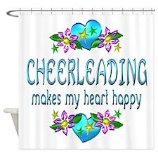 Cheerleading Heart Happy Shower Curtain