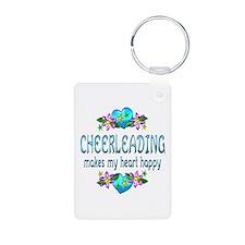 Cheerleading Heart Happy Keychains
