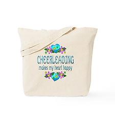 Cheerleading Heart Happy Tote Bag