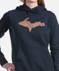 Hammered Copper Women's Hooded Sweatshirt