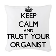 Keep Calm and Trust Your Organist Woven Throw Pill