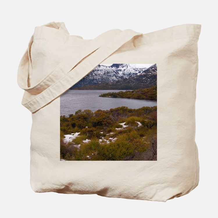 cloudy cradle mountain Tote Bag