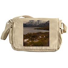 cloudy cradle mountain Messenger Bag