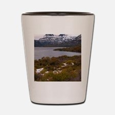 cloudy cradle mountain Shot Glass