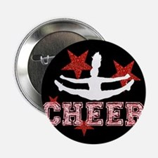 """Cheerleader black and red 2.25"""" Button"""