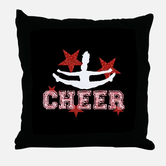 Cheerleader black and red Throw Pillow