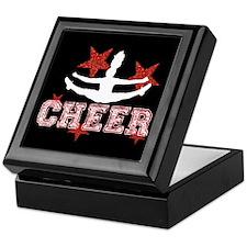 Cheerleader black and red Keepsake Box