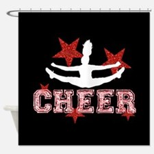 Cheerleading Shower Curtains   Cheerleading Fabric Shower Curtain ...