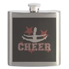 Cheerleader black and red Flask