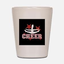 Cheerleader black and red Shot Glass