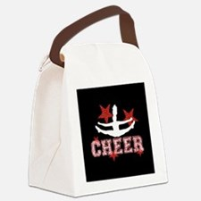 Cheerleader black and red Canvas Lunch Bag