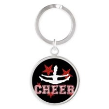 Cheerleader black and red Keychains