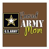 Military mom Square Car Magnets