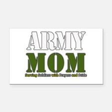 Army Mom Prayers Rectangle Car Magnet