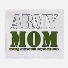 Army Mom Prayers Throw Blanket