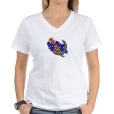 2-HORSESHOE PAINTBRUSH AND BLUEBONNETS.png T-Shirt