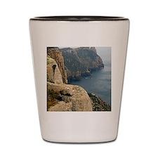 cape pillar coastline Shot Glass