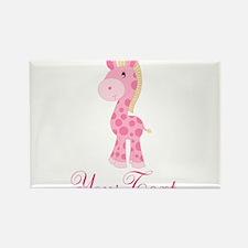 Personalizable Pink Giraffe Magnets