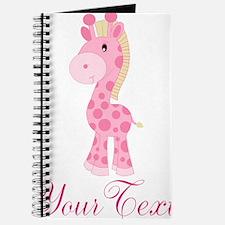 Personalizable Pink Giraffe Journal