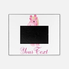 Personalizable Pink Giraffe Picture Frame