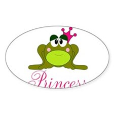 Pink Crowned Frog Princess Decal