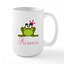 Pink Crowned Frog Princess Mugs