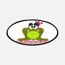 Sweet Pink and Green Frog Princess Patches