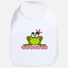 Sweet Pink and Green Frog Princess Bib