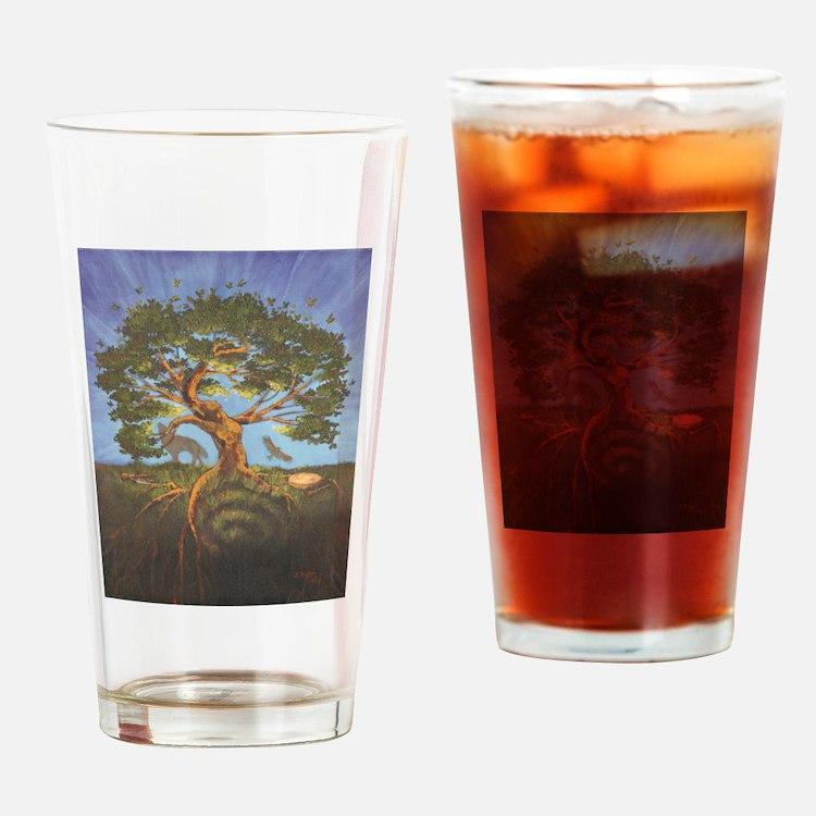 Cute Shamanism Drinking Glass