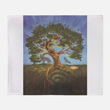 Funny Tree life Throw Blanket