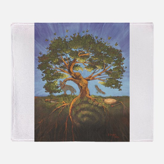 Cool Tree of life Throw Blanket