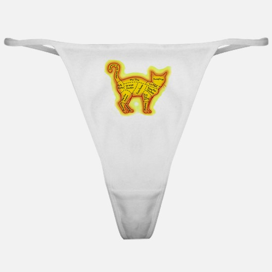 Chinese food cat Classic Thong