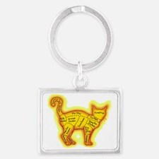 Chinese food cat Landscape Keychain