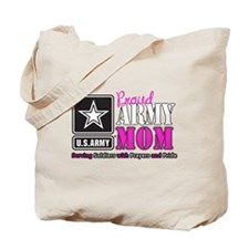 Proud Army Mom Pink Tote Bag