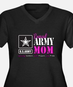 Proud Army Mom Pink Plus Size T-Shirt