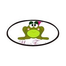 Personalizable Pink and Green Frog Patches