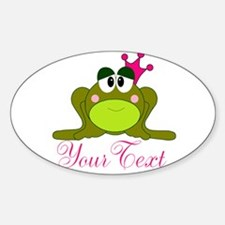 Personalizable Pink and Green Frog Decal