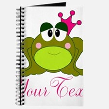 Personalizable Pink and Green Frog Journal