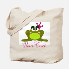 Personalizable Pink and Green Frog Tote Bag
