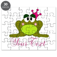 Personalizable Pink and Green Frog Puzzle