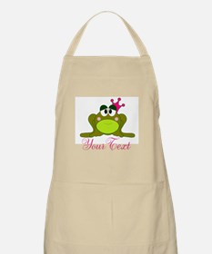 Personalizable Pink and Green Frog Apron